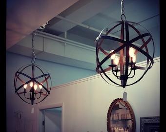 Vintage Industrial Orb Light, Modern Lighting