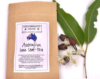Tea - Australian Grown Loose Leaf - Mothers Day Gift - Pesticide Free - Eco Gift - Birthday - Thank You Gift - Eco Packaging