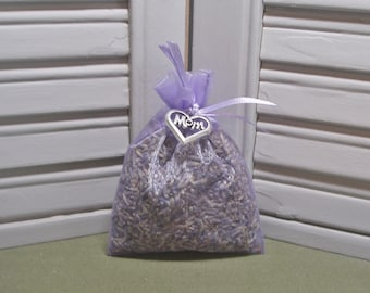 """Sachet, lavender, dried lavender, Mother's Day, birthday gift, party favor, Mom, Gift for her, heart charm, 3"""" by 4"""" lavender organza bag"""