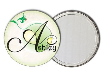 Personalized pocket mirror favors Custom name compact mirror Custom pocket mirror makeup hand bag mirror 2.25 Button compact mirror