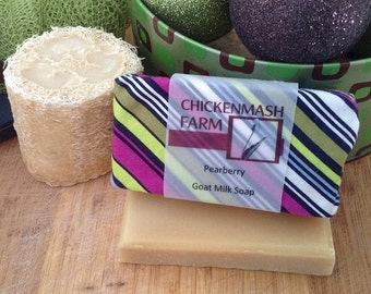 Handmade Goat Milk Soap | Pearberry Soap from Chickenmash Farm