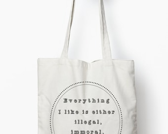 funny tote bag,, funny gift, canvas tote bag