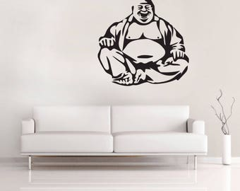 Buddha wall VINYL DECAL - Vinyl Decal Sticker - Home decor - Spiritual decal - Living room , Bedroom , Office - Large 60cm decal