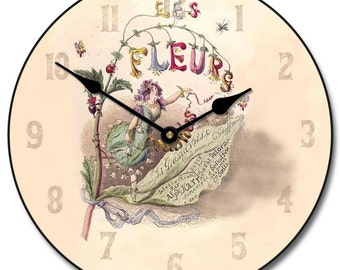 Vintage Fairy Wall Clock