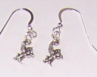 PEGASUS - boucles d'oreilles de cheval volant - en argent sterling