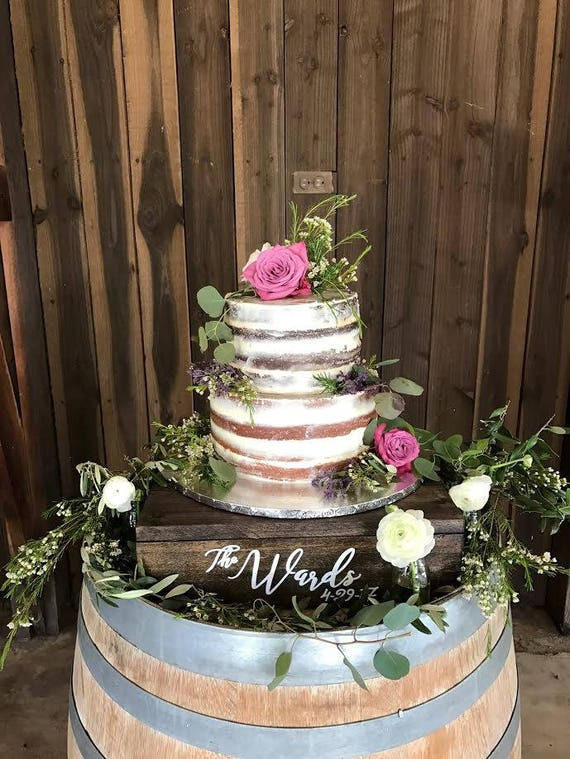Custom Cake Stand Cupcake Stand Rustic Cake Stand Wood Cake