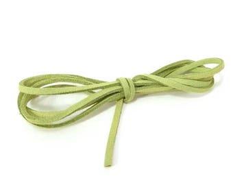 Cord green suede 1 meter