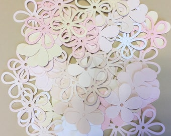 Paper cut flowers etsy 80 17 inch flowers neutrals cricut die cuts paper cut outs mightylinksfo