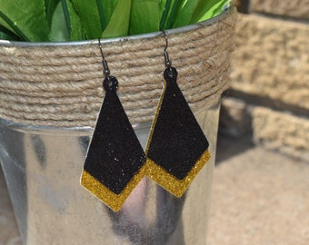 Faux Leather Layered Earrings
