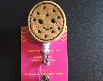 Cookie ID badge reel holder retractable clip