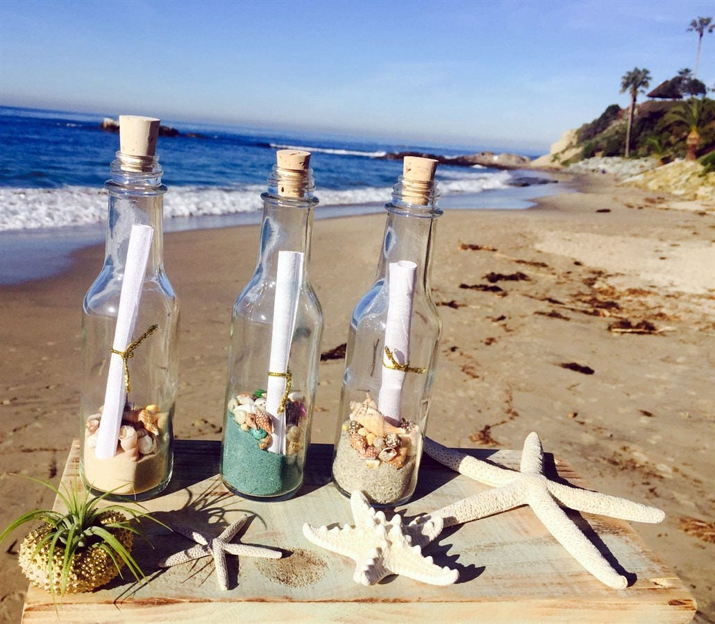 Message In A Bottle Favors Wedding Favors Party Favors Wedding