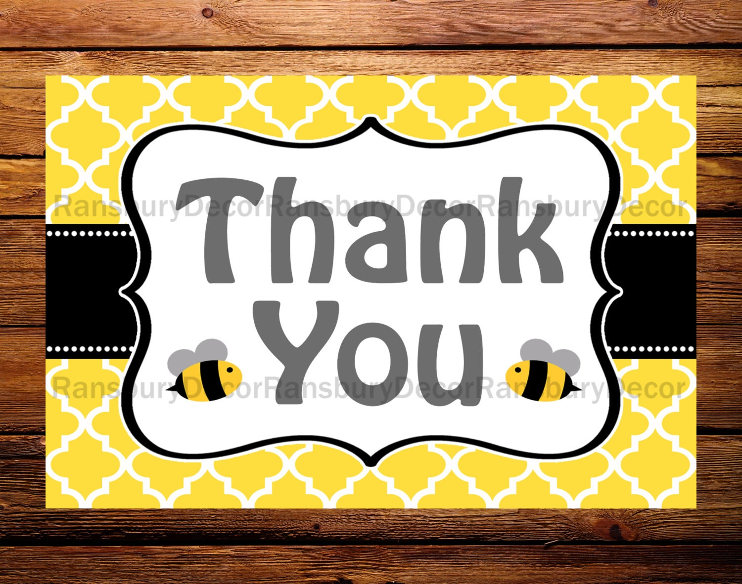 Bee Thank You Card Theme Mom To