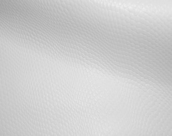 """Leather 8""""x10"""" White Amazon Cobra (new pattern) Cowhide 2-2.5oz /.8-1 mm PeggySueAlso™"""