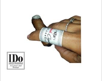 Custom Logo Cigar Bands - Ladies Cigar Bands - Chocolate Cigar Bands - Custom Cigar Bands - Candy Cigar Labels - (16 Bands)