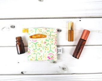 Mini Essential Oil Bag, Essential Oil Case  - Freshcut - roller bottle case essential oil storage IEM case, earbud holder, rollerball
