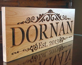 Wedding Date Sign, 5th Anniversary Sign, Personalized Sign, Custom Wedding Date Sign, Benchmark Custom Signs, Cherry LM