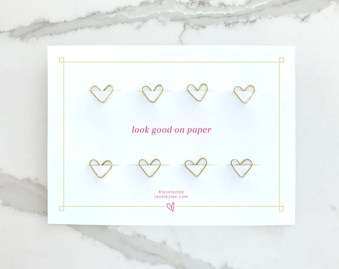 Featured listing image: Gold Paper Clip Hearts