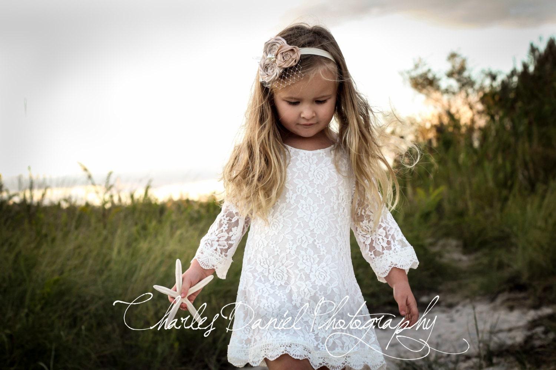 Flower girl dresses 4t white and blue