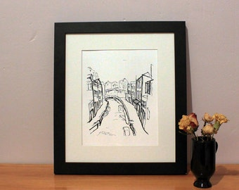 Venice Sketch Art Print, Italy Sketch, Home Decor, Wall Art, Housewarming Gift, Wedding Party Gift, Birthday Gift, For Him, For Her
