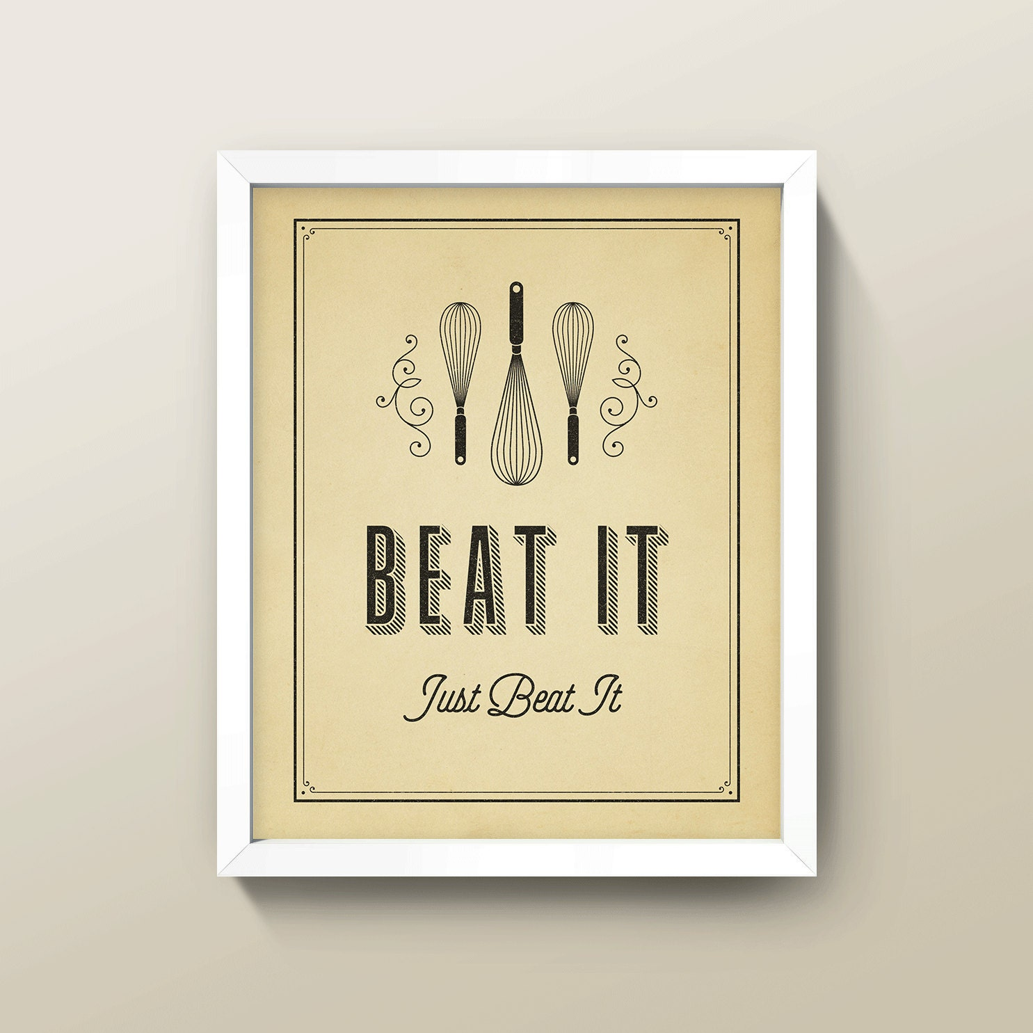 Michael Jackson Beat It Lyric Quote 8x10 Kitchen