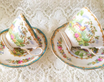 Royal Albert Teacup/cup and saucer. A ladies model.  Chelsea Bird series.  Porcelain.