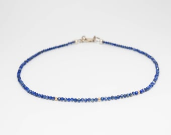 Micro-faceted Lapis Choker