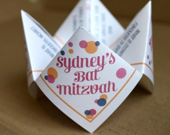Bat/Bar Mitzvah Cootie Catcher (PDF - PRINTABLE)