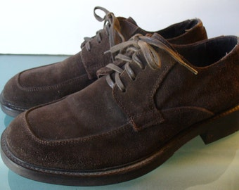 Banana Republic Brown Suede Men's Shoes Made in Italy 8.5D