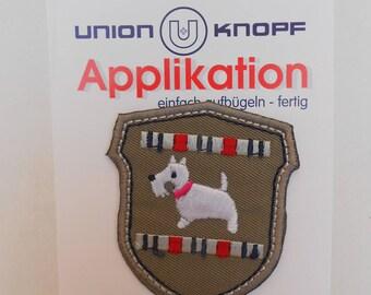 Fusible iron-on applique, motif: dog