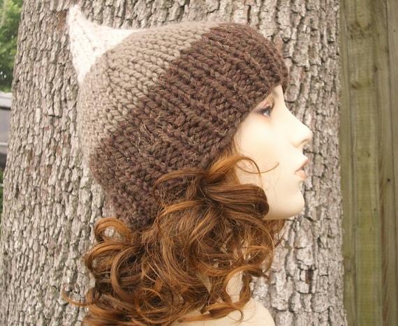 Brown Knit Hat Brown Womens Hat - Brown Gnome Hat Hot Fudge Lava - Brown Hat Brown Beanie Womens Accessories Winter Hat