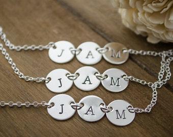 3 Best Friends | Best Friend Necklaces | Set of 3 | Necklaces Best Friend 3 | Friendship Necklaces | Silver 3 Friend Initials | Personalized