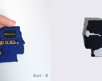 Karl Lagerfeld brooch