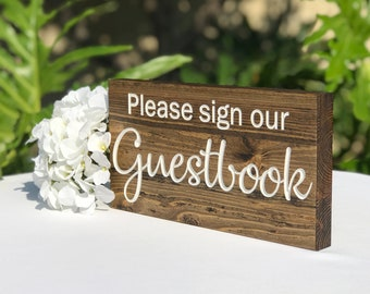 Please Sign Our Guest Book, Guest Book, Wood Wedding Guest Book, Wedding Guest Book