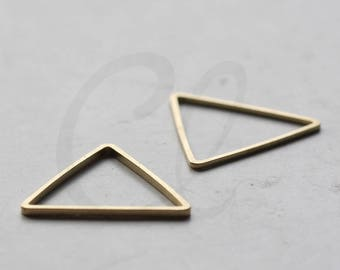 30 Pieces Raw Brass Triangle Ring - Link 18mm (3780C-D-456)
