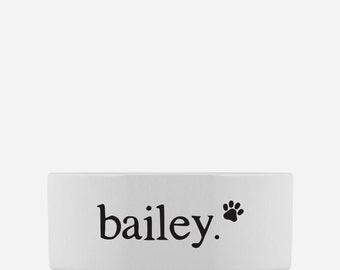 Custom Dog Bowl | Personalized Pet Bowl with Dog's Name | Ceramic Dog Dish | Gift for Dogs
