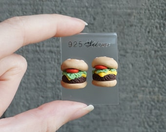 Burger Ear Studs Earrings