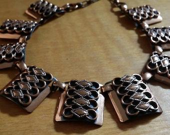 1950's Vintage Genuine Copper Choker Necklace