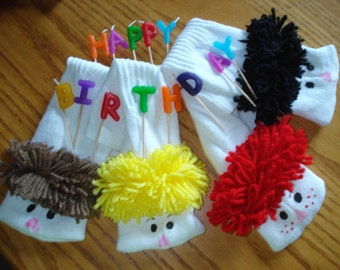 Party Favors 20 Boy Sock  Puppet with moveable mouths