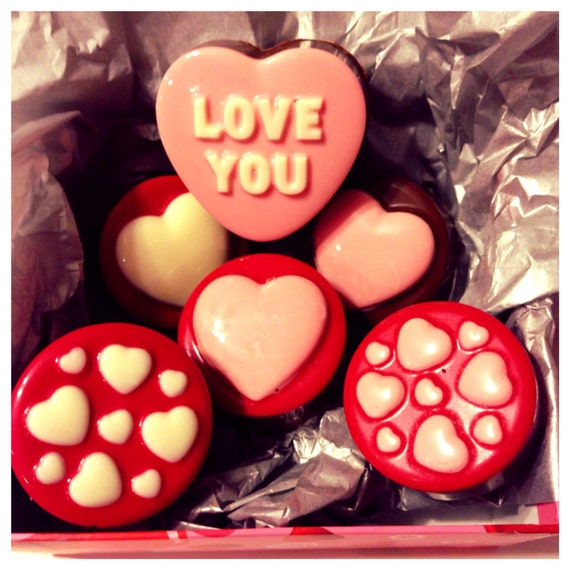 Valentines Day Love And Hearts Gift Box Chocolate Covered