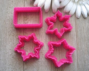 Mini Cookie Cutter Set - Mini Snowflake Cookie Cutter Set - Mini Christmas Cookie Cutter Set - Cookie Cutters - Fondant Cutters - Cutters