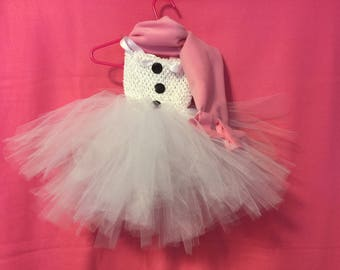 Snowman Tulle Tutu Dress with Scarf Lined Bodice with soft fabric Dress up  0-24 mths