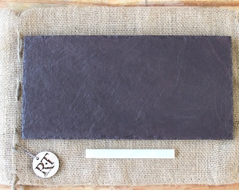 """6"""" x 12"""" - Plum Slate Cheese Board Appetizer Serving Plate - Cheese Plate"""