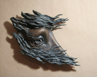 Patience - A wall hanging horse sculpture - Limited edition 1 of 5