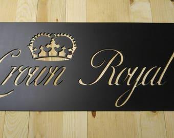 Crown Royal plasma cut metal sign