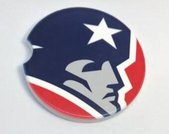 Car Coaster New England Patriots Coasters Cup Holder Coaster Gift Under 10 Inspirational Coasters Football Coasters