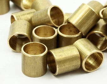 12 Raw Brass Industrial Tube Findings, (10 X 10 Mm) A0668