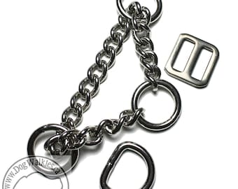 """Upgrade to Stainless Steel Chain Martingale - Nylon Collar Upgrade - 3/4"""" (19mm) Collar Upgrade"""