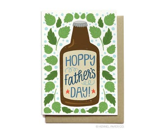 Beer Father's Day Card - Hoppy Father's Day - Happy Father's Day - Hennel Paper Co. - FD4