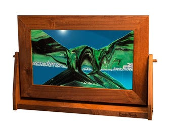 Lg12 Large Alder Wood - Summer Turquoise by Exotic Sands USA