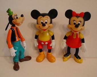 Goofy, Mickey, and Minnie - Set of Three